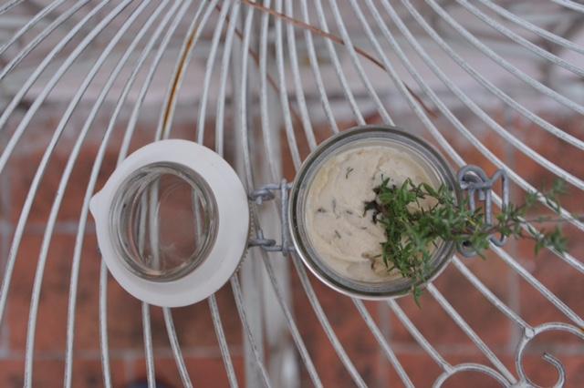 Weißes Bohnenmousse