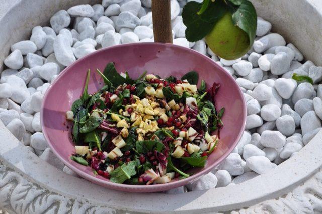 Radicchio_Spinat_Maroni Salat